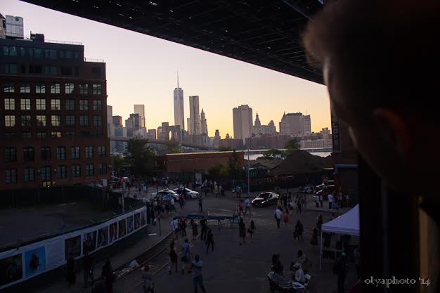 Rooftop view of the DUMBO area
