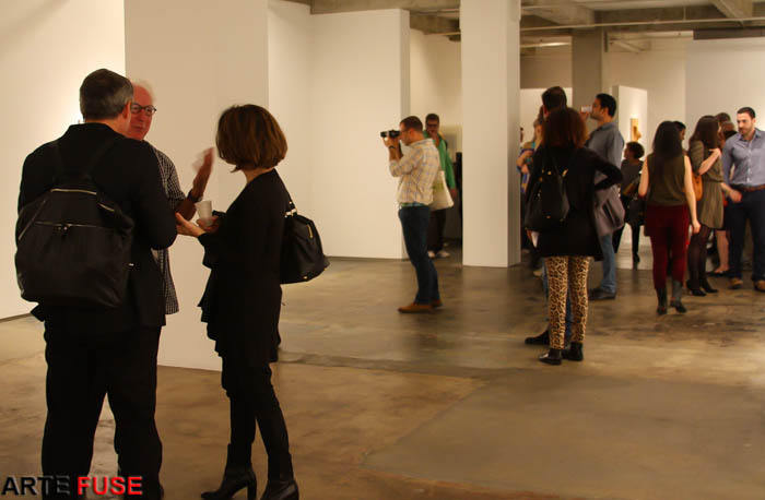The art crowd at Kim Foster Gallery