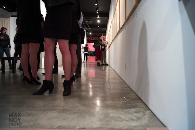 The well heeled on art night at Garis & Hahn
