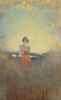 """Federico Infante, Where The Bird Was Before It Flew, 2014, Acrylic on Canvas, 47"""" x 29½"""""""