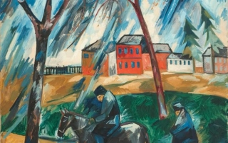 Natalia Goncharova (1881-1962), The Storm, 1910, Oil on canvas, 49.6 x 37.4 in / 126 x 95 cm