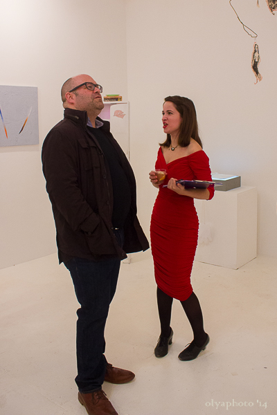 Curator Hazel Lee Santino (right)
