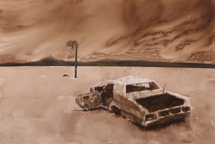 The Twilight of Testosterone in Watercolor: David Rathman at Morgan Lehman