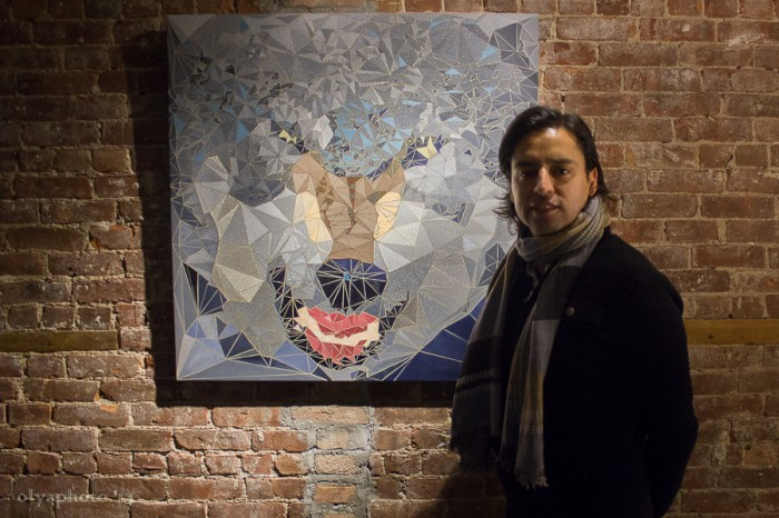 Jamie Martinez and his work at the event