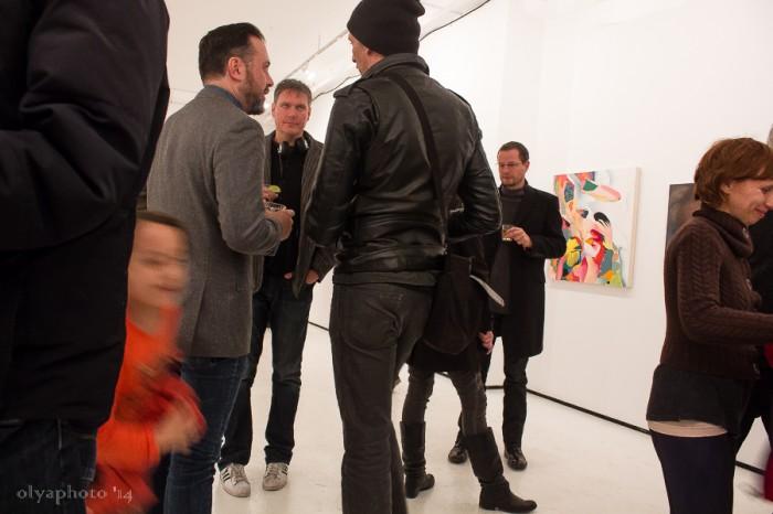The art crowd at BFP in Bushwick