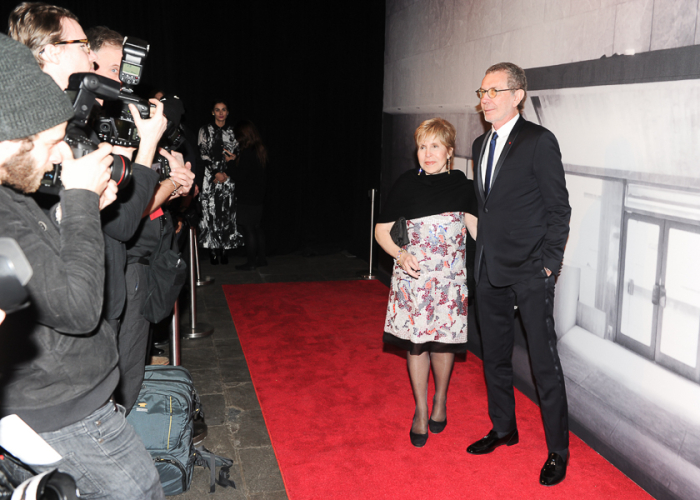 Walking the Red Carpet at the Whitney Gala Dinner - BFA (photo credit - Billy Farrell)