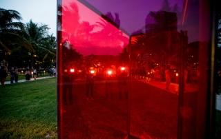Art Basel in Miami Beach 2014 | Public | Performance: Alix Pearlstein, Work by Sarah Braman, Door, 2013 – 2014 (Mitchell-Innes & Nash). MCH Messe Schweiz (Basel) AG