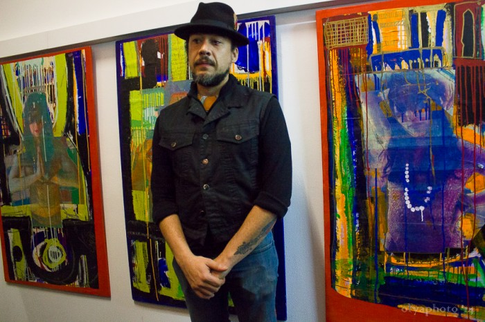 Artist and curator Kimyon Huggins