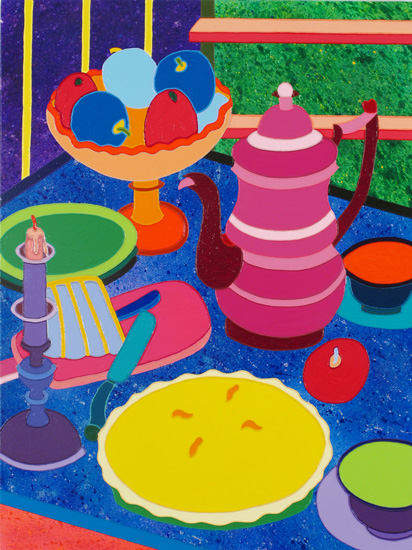 Sabina Forbes II Kitch-en Fruit, 2014 Acrylic on canvas 40 x 30 inches; 101.6 x 76.2 cm Framed