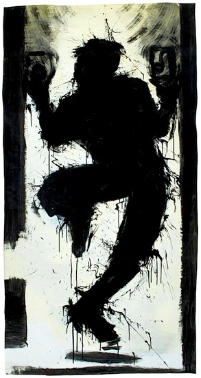 Richard Hambleton Dancing Shadowman, 1983 Acrylic on paper 74 x 38.5 inches; 188 x 97.8 cm Framed