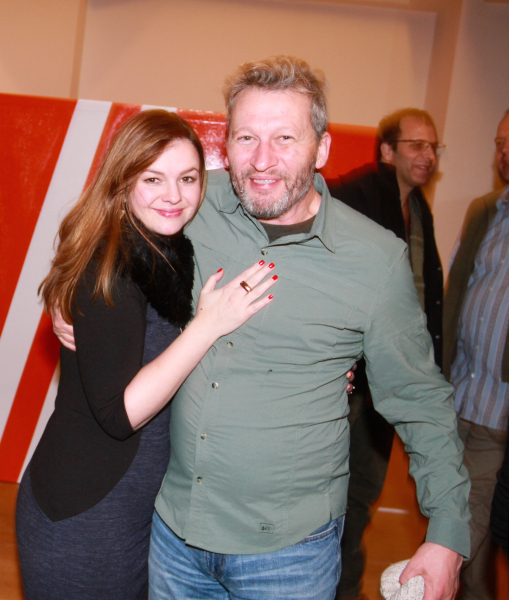 AmberTamblyn and KenKwanis enjoying the art by Ryan Piers Williams