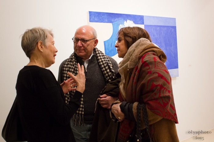 Artist Denise Green (left) with her guests during the openign reception
