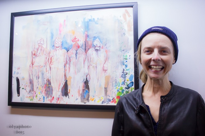 Artist Erin Smith so elated at her opening reception