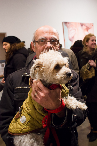 Even four legged art lovers are welcome on Thursday Art Night