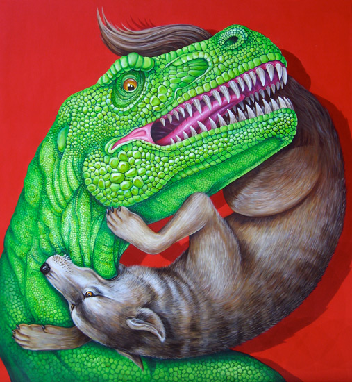 Cycle Rex vs. Rex, 2013 Acrylic on canvas 48 x 48 inches; 121.92 x 121.92 cm