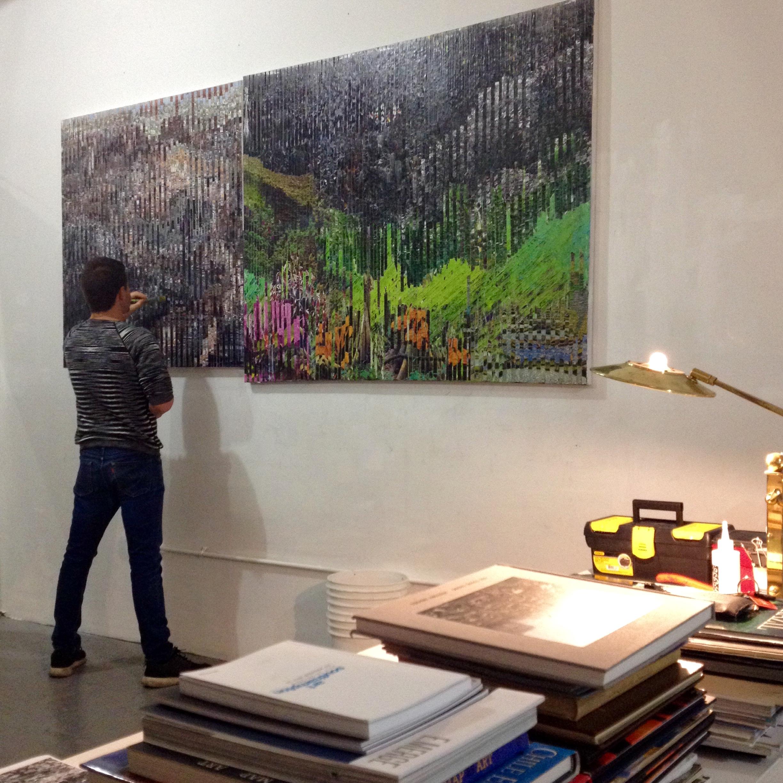 Ciudades oil on canvas 45x60 inch year 2005