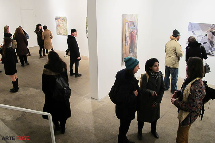 The art crowd at Winston Wachter Gallery