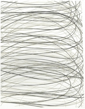 Adam Fowler, Untitled (3 Layers), 2012, Graphite on paper, hand cut, 14 x 11 inches (36 x 28 cm); Framed: 22 x 18 inches (56 x 46 cm)