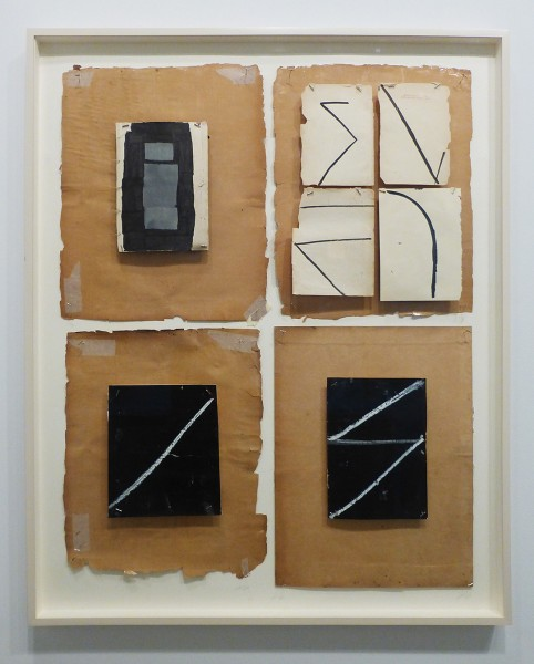 Nan Swid, Black Four, 2011-2012, Mixed media on paper, Framed: 49.25 x 40.5 inches (125 x 103 cm)