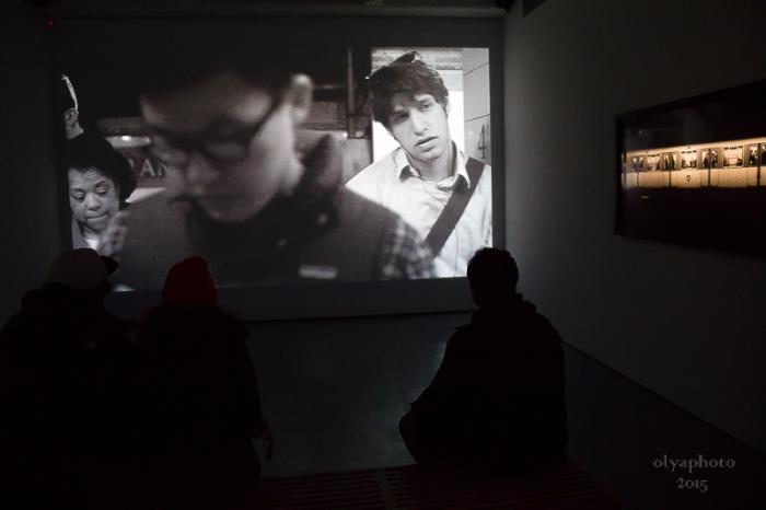 Adam Magyar video installation at Julie Saul Gallery
