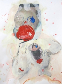 Katya Grokhovsky, Lips, 2014, mixed media and collage on paper