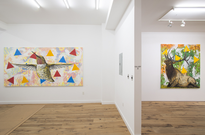 The interior of Marc Struas Gallery with works by John Newsom