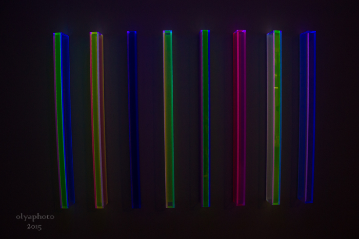 Under the black light the work of Regine Schumann shines