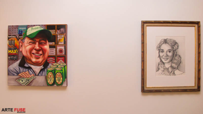 (L-R) Painting by Tom Sanfod and Barnaby Whitfield