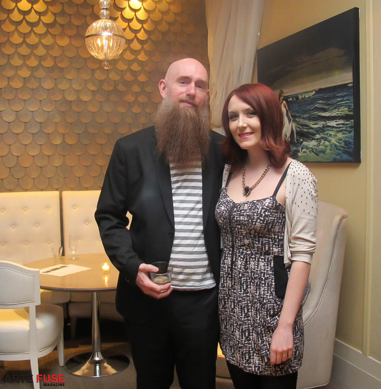 (L-R) Artist Logan Hicks and curator Lori Zimmer
