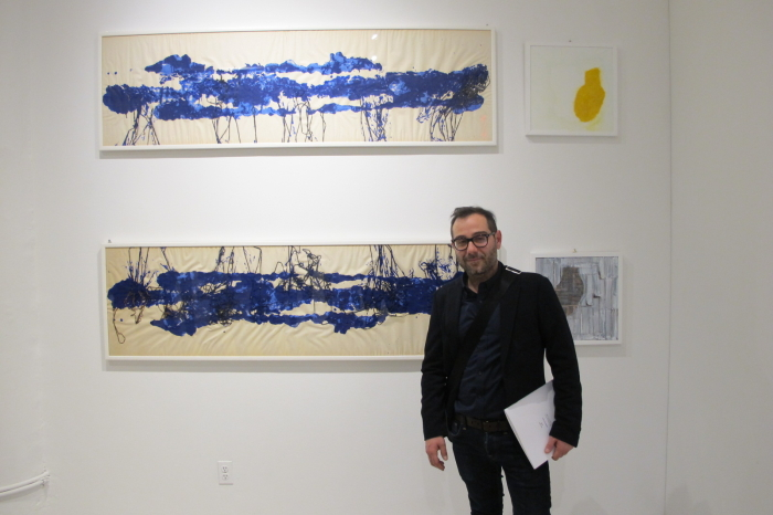 Artist Marco Angelini at Clio art fair