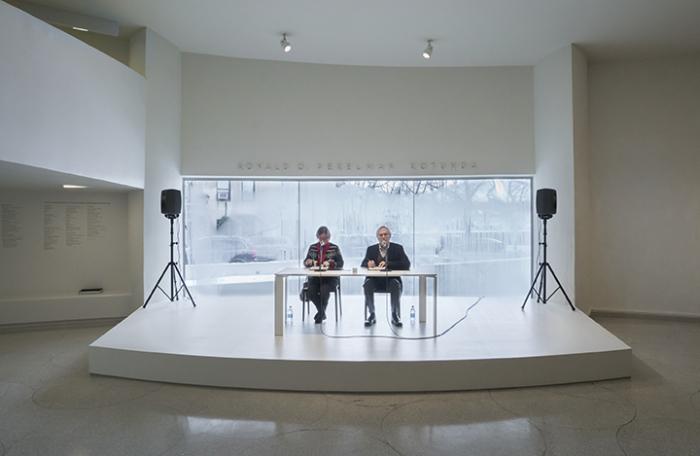 Installation view: On Kawara—Silence Solomon R. Guggenheim Museum, New York, February 6 to May 3, 2015. Photo: David Heald © Solomon R. Guggenheim Foundation