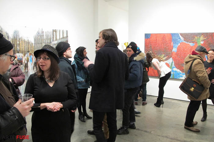 The ART crowd for Bradley Hart opening at Anna Zorina Gallery