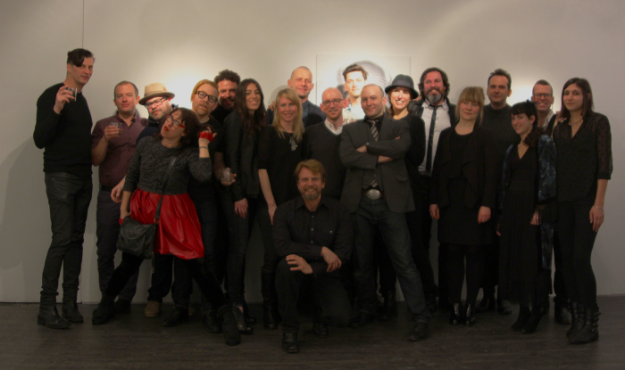 The crew at the opening for The Copenhagen Interpretation at the Lodge Gallery