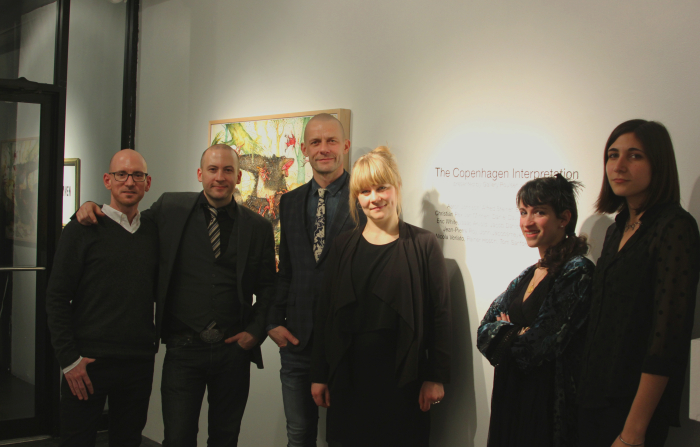 (L-R)Keith Schweitzer,  Jason Patrick Voegele and Morten Poulsen with friends