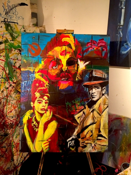 The final painting created by Monel King Aliote, Andrew Dejesus and Craig Mahoney