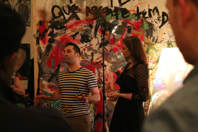 The hosts Anthony Frattin and Adiane Ayma of The Art Factory