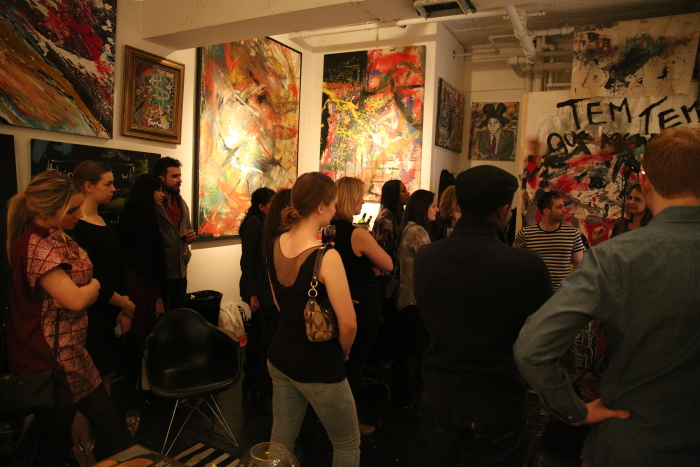 The fun crowd at The Art Factory