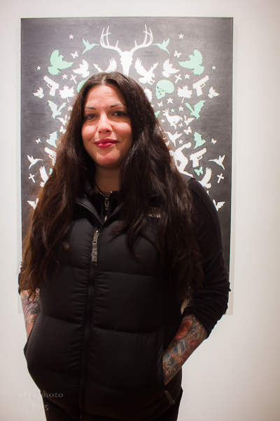 Artist Mia Tyler in attendance at Joseph Gross Gallery
