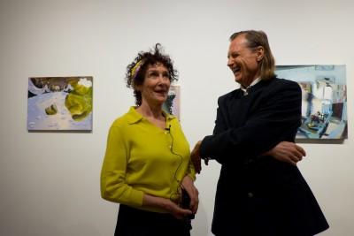 (R-L) Judith Simonian with Adriaan Van Der Plas