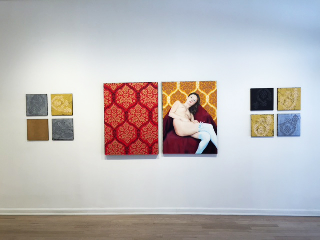 Installation shot of Vincent Zambrano's work.