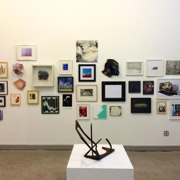 Installation shots of Making History at Storefront Ten Eyck, photo by Samantha Katz