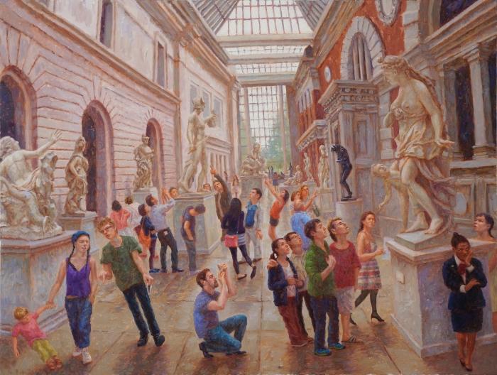 """Metropolitan Museum, 2014. Oil on Linen, 30"" x 40"""
