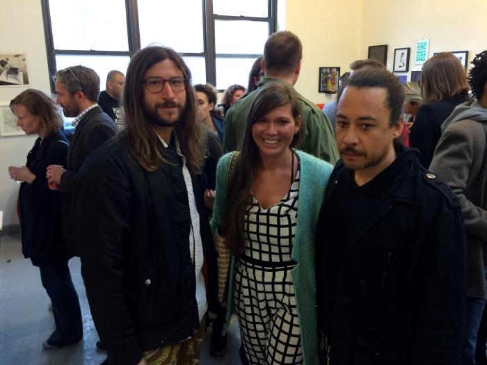 (L-R) Andrew Gori, Ambre Kelly and Kimyon Huggins