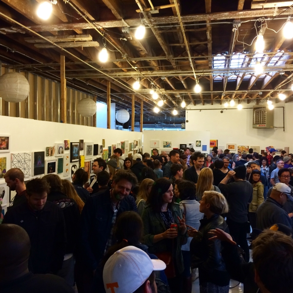 Opening night for Making History at Storefront Ten Eyck, photo by Samantha Katz, photo by Samantha Katz