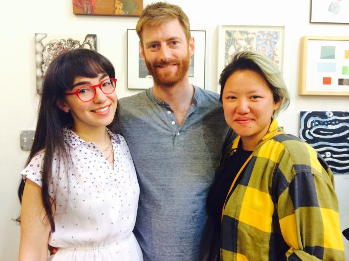 (L) Sam Katz with friends