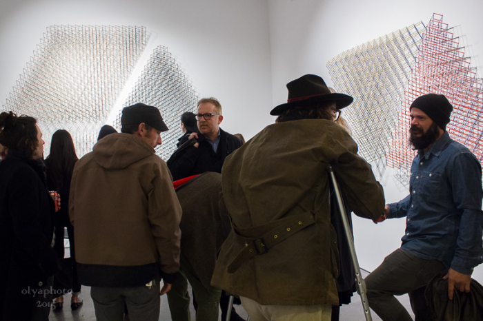 The opening reception for Alois Kronschlaeger