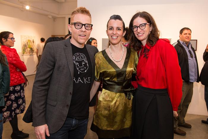 AlfredSteiner with artist MelodieProvenzano and ElizabethRoff