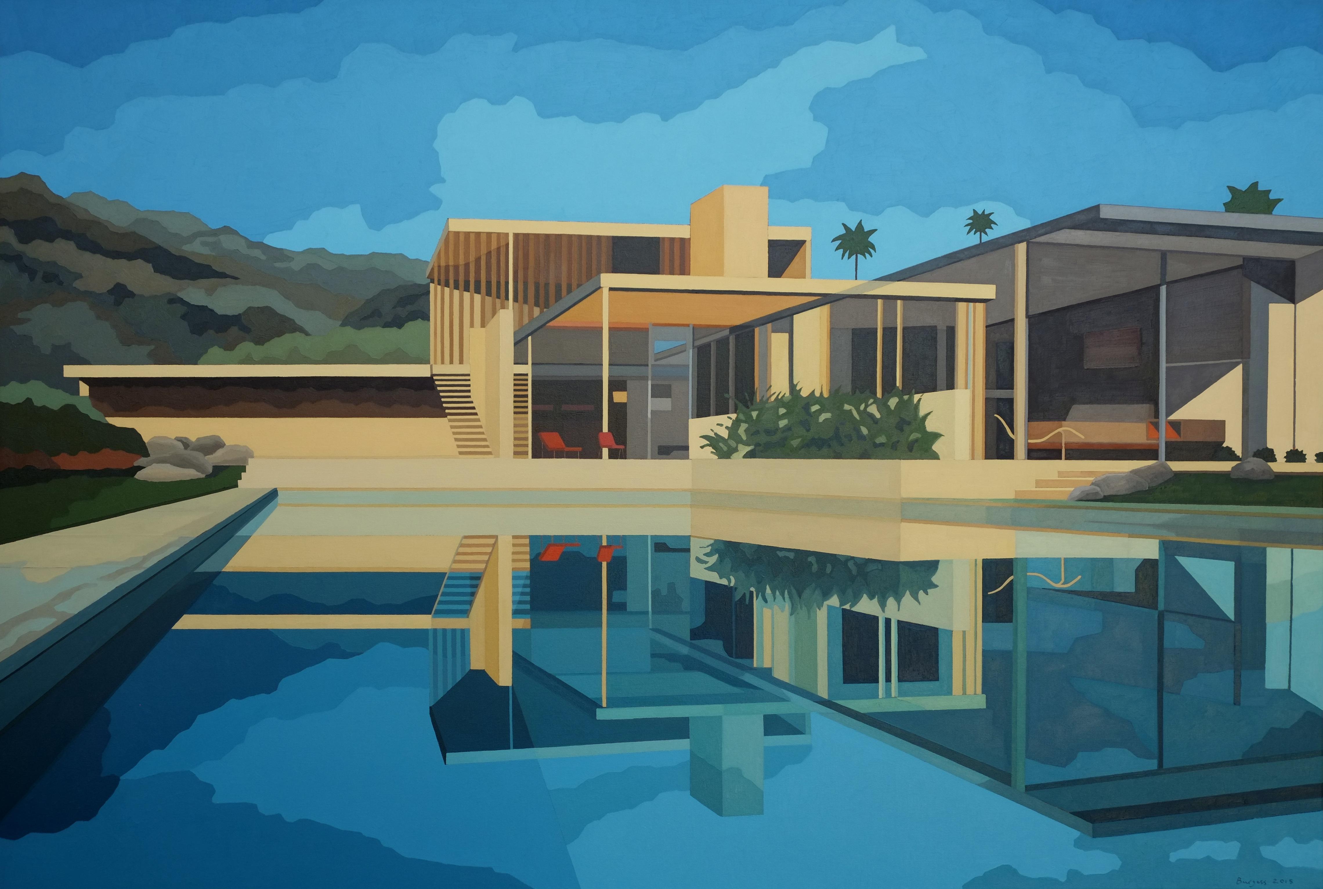 """Kaufman House, 2015 Oil on Canvas 54"""" x 80"""""""