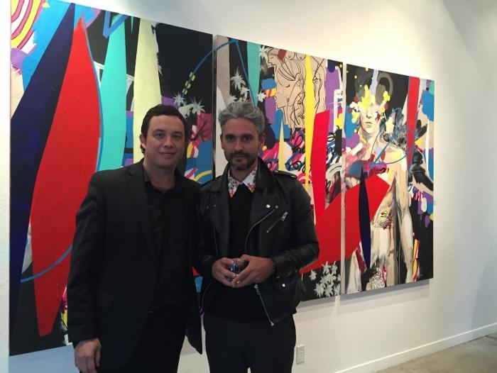(L-R) Curator Mateo Mize and Artist Miky Fabrega