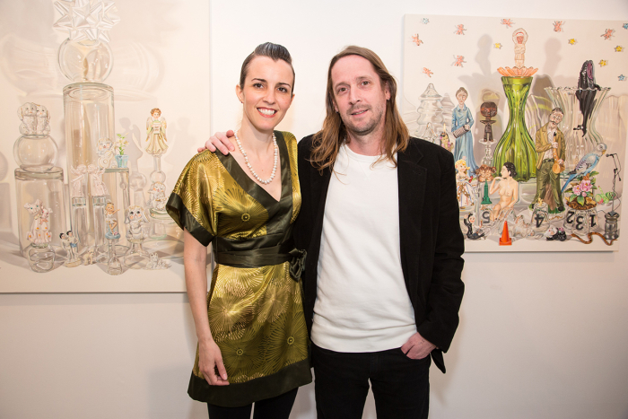 Artist Melodie Provenzano with Chad Oliver